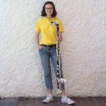 Suzannah mit ihrer neuen Bassklarinette.