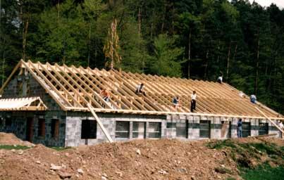 Vereinsheim im Bau