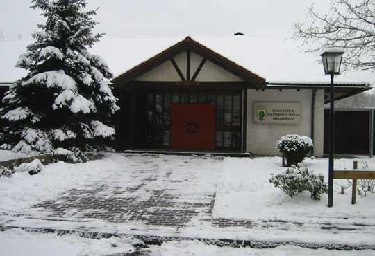 Vereinsheim im Winter